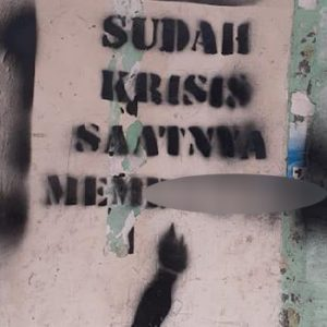 Vandalisme bernada provokatif ditemukan di enam titik di kawasan Pasar Anyar Sukarasa Kota Tangerang. (Dok. Istimewa)