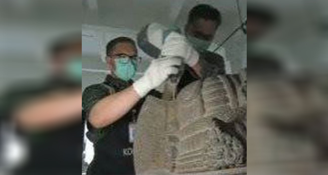 Screenshot video proses restorasi arca Ganesha (Instagram-@kemdikbud.ri)