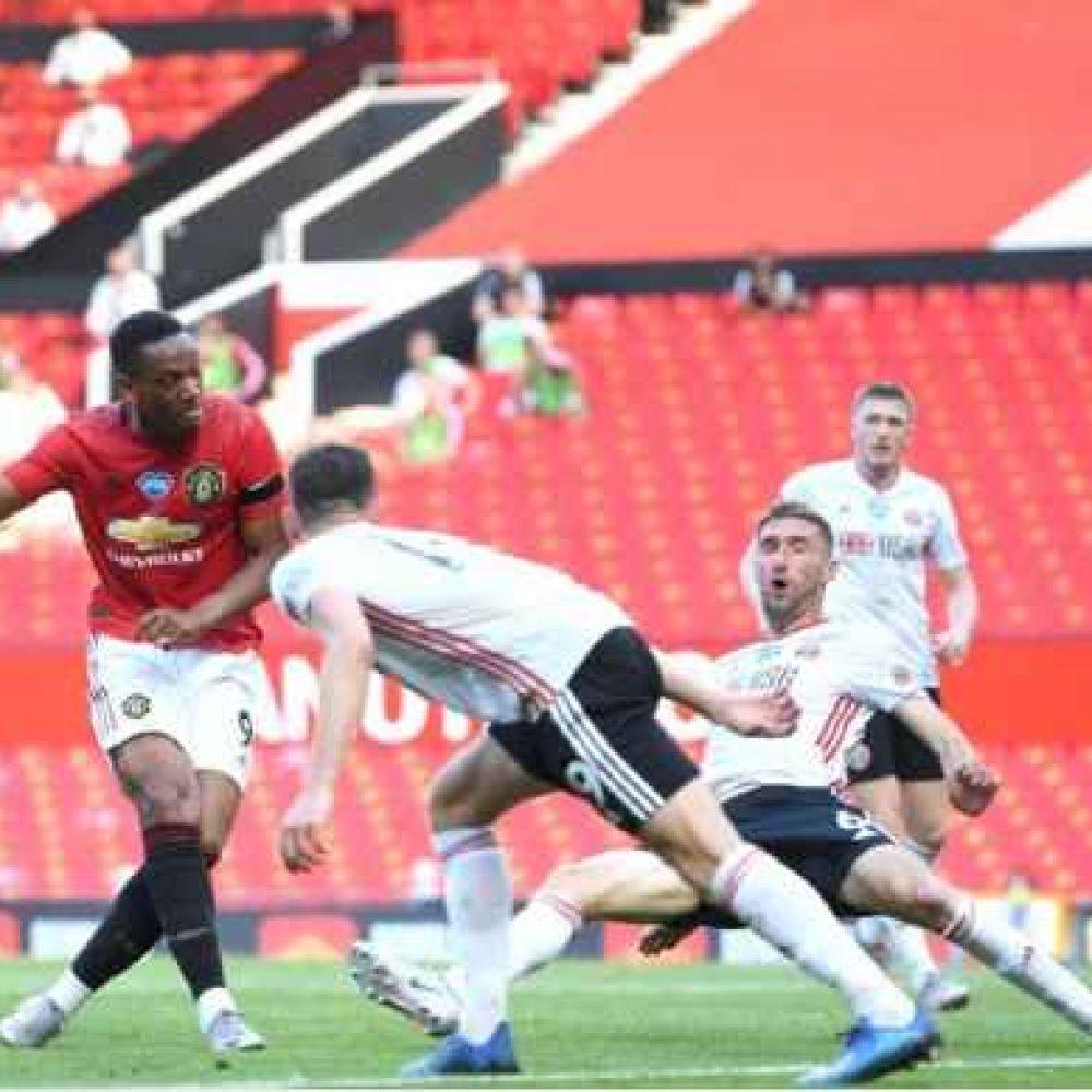 Hasil Liga Inggris 2020: Manchester United 3-0 Sheffield United, Martial Menangkan Setan Merah