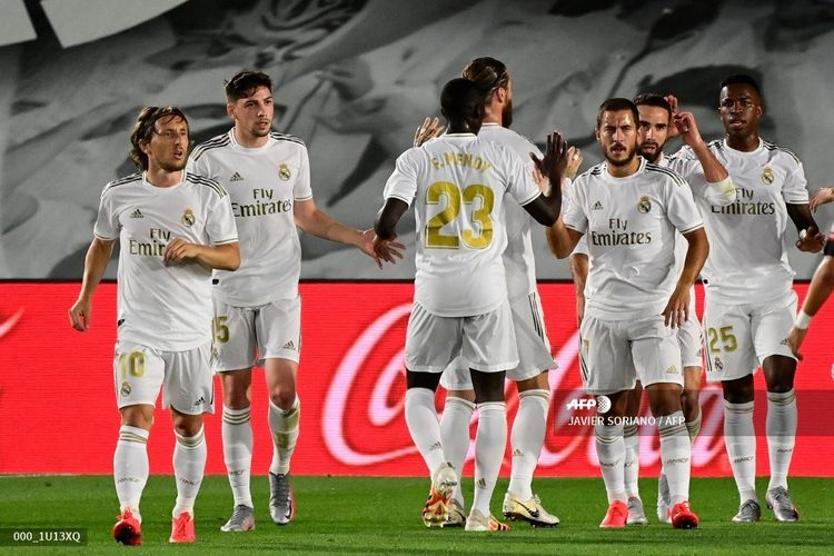 Selebrasi pemain Ral Madrid