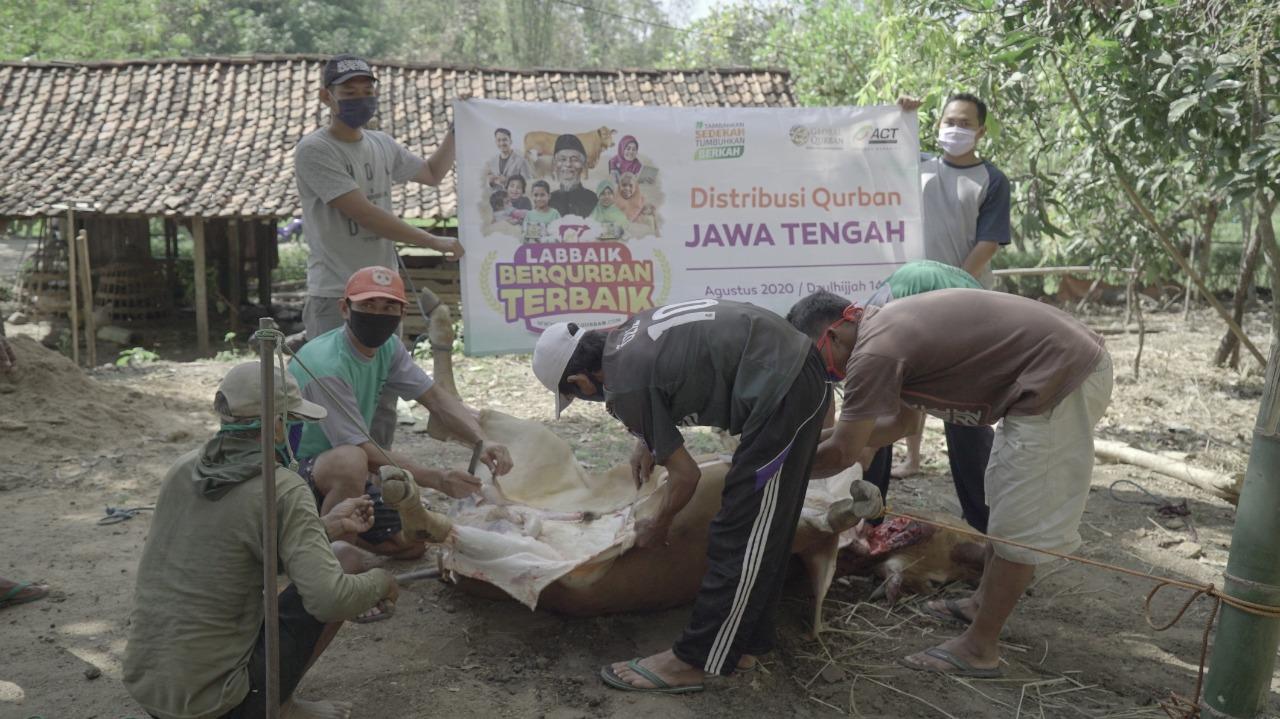 Hari Kedua Iduladha, ACT Solo Salurkan Hewan Quran di Pelosok Wonogiri