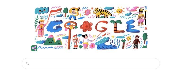 Hari Kemerdekaan Indonesia 2020 Jadi Google Doodle Hari Ini