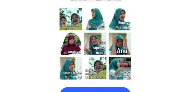 Ingin Download Stiker Whatsapp (WA) Bu Tejo ? Ini Caranya