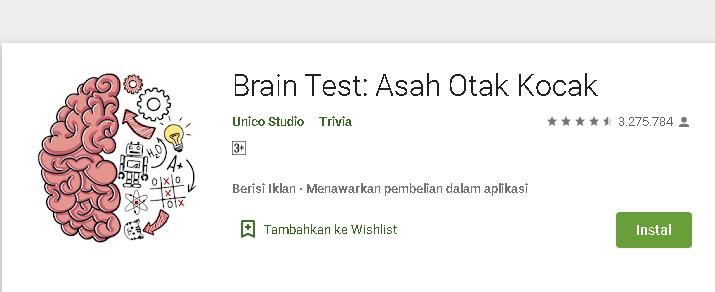 Kunci Jawaban Brain Test TERLENGKAP & TERUPDATE Level 1-270