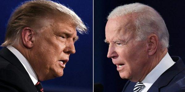 Donald Trump dan Joe Biden berjuang untuk menjadi presiden ke-46 AS (Foto: BBC/Getty Images)