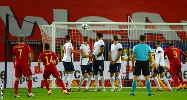 Dries Mertens menjadi pemain pertama yang mencetak gol dari tendangan bebas untuk Belgia sejak Kevin de Bruyne v Israel pada 2015 (Foto: BBC/Getty Images)