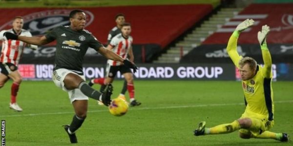 Manchester United sukses meraup poin penuh saat melawat ke markas Sheffield United dalam lanjutan Liga Premier, Jumat (18/12/2020) dini hari WIB (Foto: BBC/Getty Images)