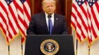 Presiden Amerika Serikat (AS) Donald Trump menyampaikan pidato perpisahannya sebelum meninggalkan Gedung Putih (Dok. YouTube)