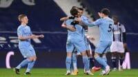 Manchester City naik ke puncak klasemen Liga Premier usai menjungkalkan West Bromwich Albion, Rabu (27/01/2021) dini hari WIB (Foto: Laurence Griffiths/Getty Images)
