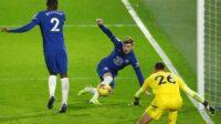 Timo Werner mencetak gol ke gawang Newcastle United di Stamford Bridge dalam lanjutan Liga Premier, Selasa (16/02/2021) dini hari WIB. (Foto: BBC/Getty Images)