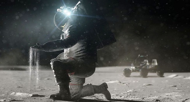 NASA telah memilih perusahaan SpaceX milik Elon Musk untuk membangun pendarat manusia di bulan (Foto: BBC/NASA)