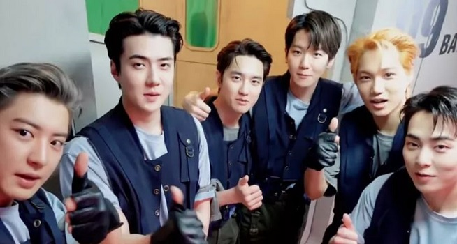 Boy band asal Korea Selatan EXO (Dok. Soompi)