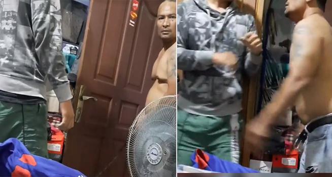 Screenshot rekaman video seorang ayah mengancam anak kandungnya dengan menghunus senjata tajam jenis pedang (Dok. Instagram @sheyriela)