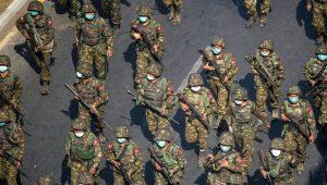 Militer Myanmar (Foto: BBC/Reuters)