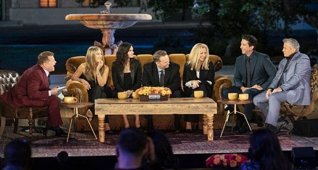 Sitkom AS Friends reunion yang menghadirkan bintang tamu artis populer (Foto: BBC/WARNERMEDIA)