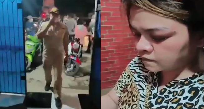 Screenshot rekaman video oknum petugas Satpol PP dan pemilik Warkop Ivan Riyana Panciro Kabupaten Gowa Sulawesi Selatan (Dok. Instagram/@lambe_turah)