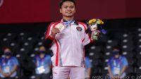 Pebulutangkis tunggal putra Indonesia Anthony Sinisuka Ginting menutup penampilan Kontingen Indonesia di Olimpiade Tokyo 2020 dengan raihan medali perunggu (Foto: NOC Indonesia)