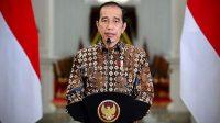 Presiden RI Joko Widodo (Jokowi) dalam pernyataannya terkait perkembangan Pemberlakuan Pembatasan Kegiatan Masyarakat (PPKM) di Istana Merdeka, Jakarta, Senin, 30 Agustus 2021 (Foto: BPMI Setpres)