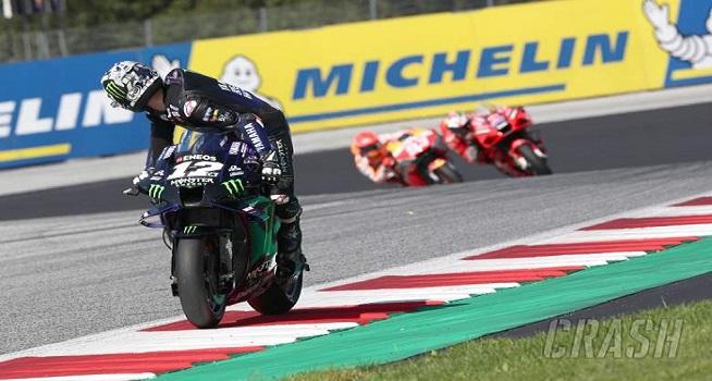 Pembalap Monster Energy Yamaha, Maverick Vinales harus menerima nasib buruk diskors oleh timnya sendiri dan absen pada balapan MotoGP Austria (Foto: Crash)